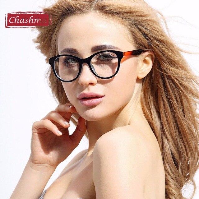 Chashma Marca Gafas TR 90 de Alta Calidad Mujeres Marco de Anteojos Marco de Los Vidrios Transparentes