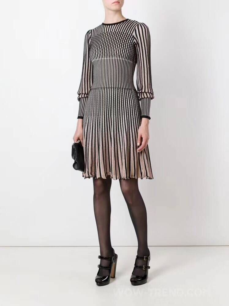 A ligne Automne De À Haute Partie Lanterne Manches Mode Parti Robe Élégante Dames Qualité Longues Soirée Style TqxYXg