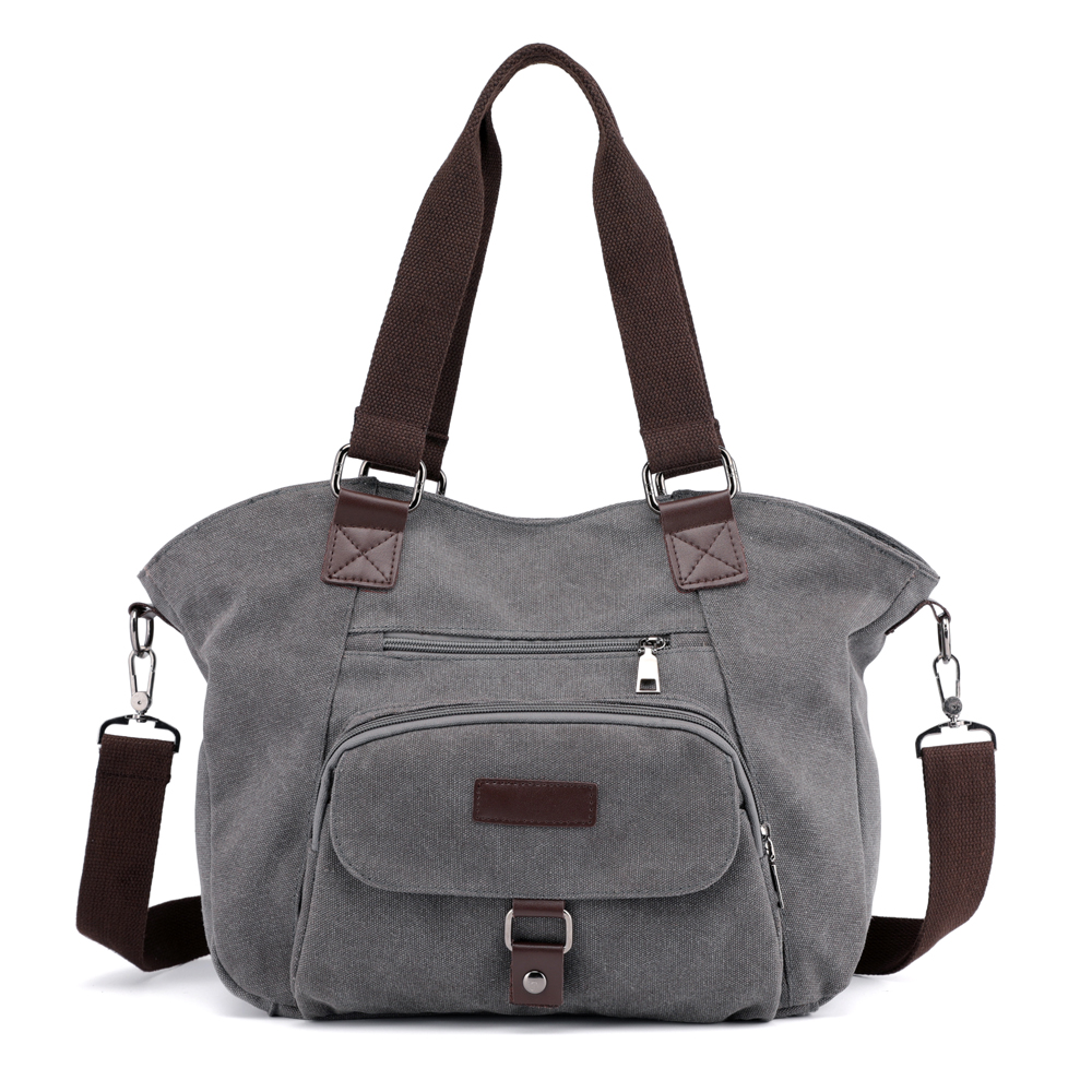 Canvas Handbag Large Hobos Bag Totes Bag Daily Working Shopping Solid Shoulder Bag