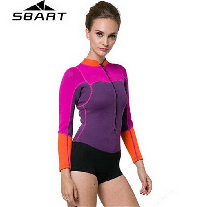 Sbart neoprene wetsuit 2mm spearfishing suit rashguard for Women s ice fishing suit