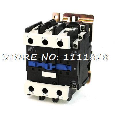 Motor Control AC Contactor AC-3 45KW 125A 3P 3 Pole 220 Volts Coil motor control ac contactor ac 3 37kw 80a 3p 3 pole 110v 120v coil