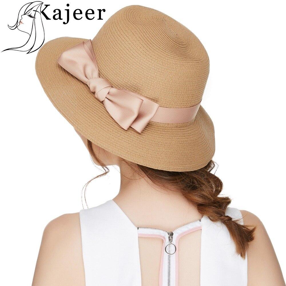 Ribbon Bow Knot Floppy Sun Caps