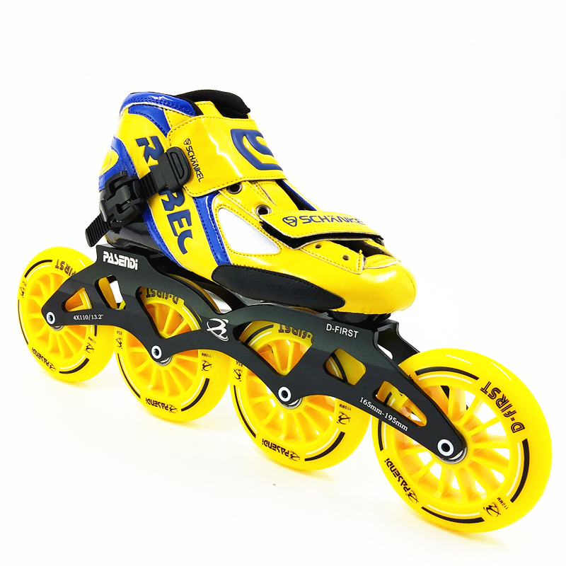 Vitesse inline de patinage inline patins à roulettes professionnel 4 roue patins hommes/femmes patin à roulettes en ligne de roue 100mm 110mm