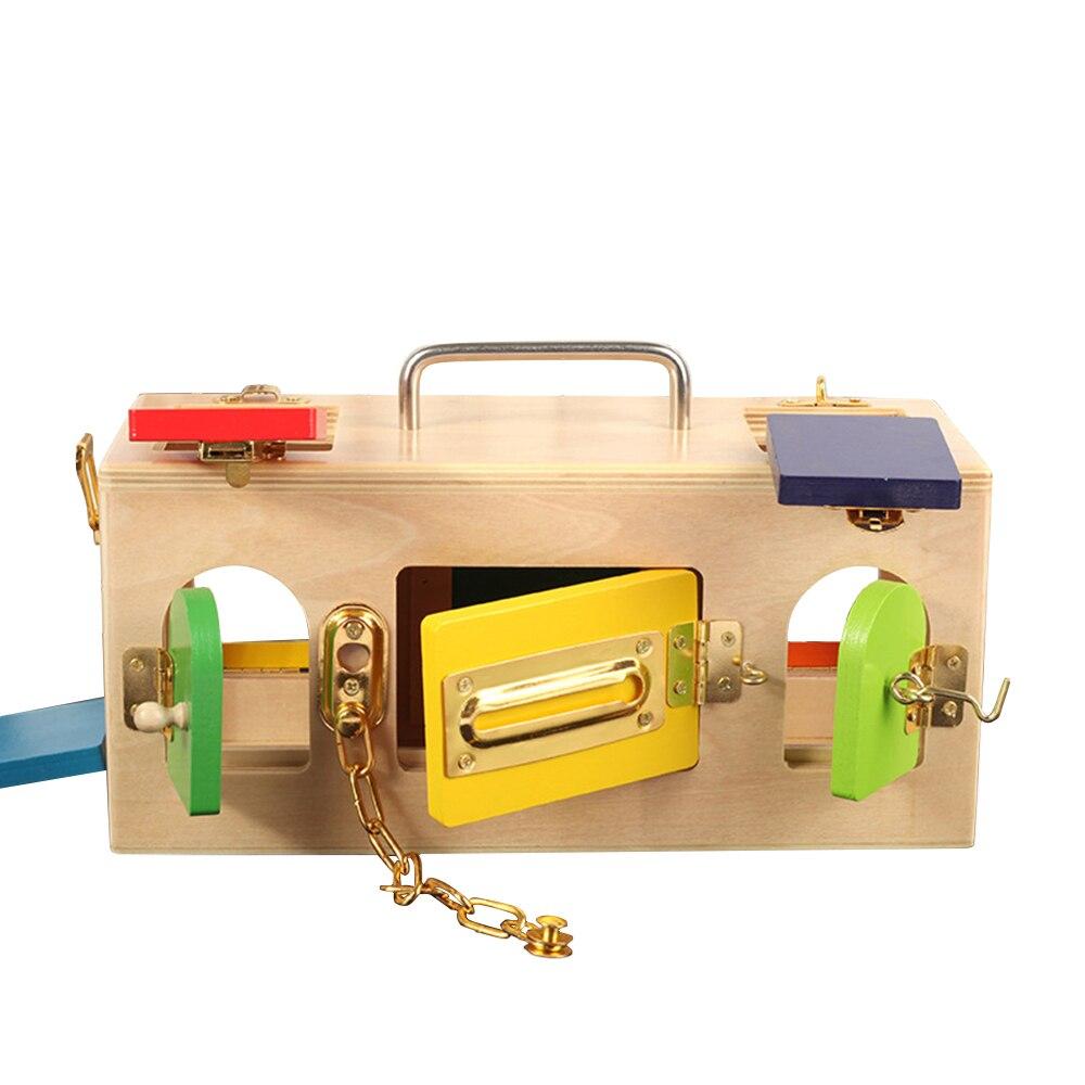 Montessori jouets serrure boîte jouet 3 ans Montessori matériaux éducatifs en bois jouets pour enfants formation enfants jeux sensoriels cadeau