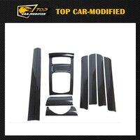 Бесплатная доставка 9 шт./компл. углеродного волокна внутренняя отделка для Porsche Cayenne, Деталей интерьера 2010