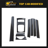 Free shipping 9pcs/set Carbon fiber Interior Trim for Porsche Cayenne,Interior Parts 2010