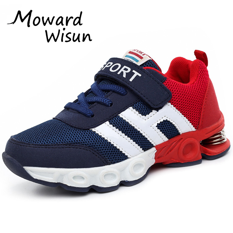 Damping Design Children Shoes Boy Sneakers for Girls Sport Shoes Kids Running Shoes Child Trainers Basket Casual Breathable 50 2016 new shoes for children breathable children boy shoes casual running kids sneakers mesh boys sport shoes kids sneakers