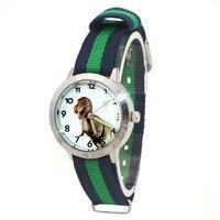 Kinder Uhren Hohe Qualität Bunte Kinder Kinder Junge Mädchen Stoff Nylon Strap Dinosaurier Cartoon Uhren Student Armbanduhr