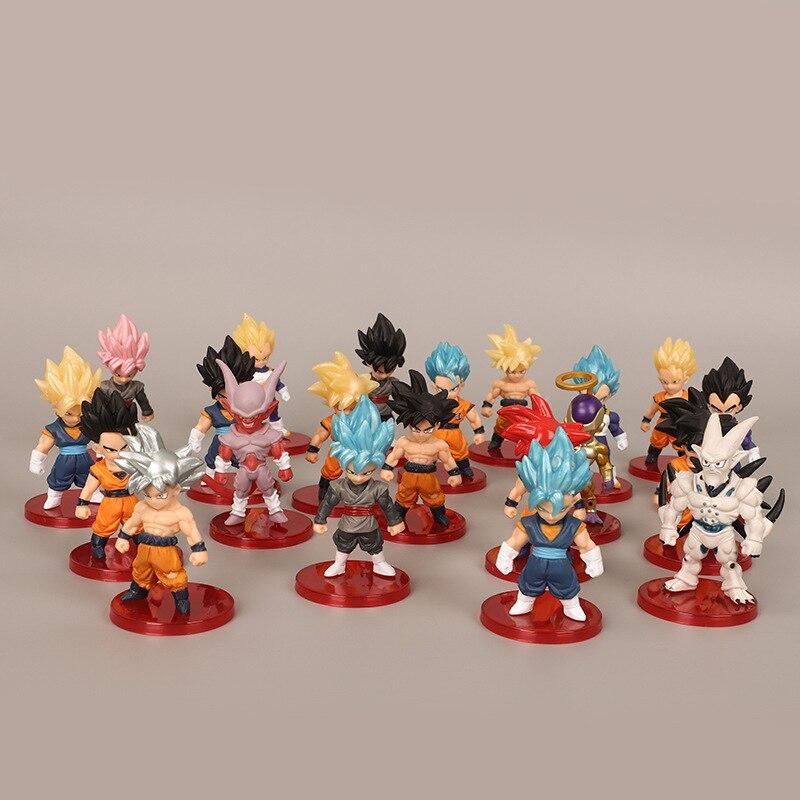 Us 232 30 Off21 Style Dragon Ball Z Super Saiyan Son Goku Gohan Vegeta Vegetto Syn Shenron Freeza Janemba Mini Pvc Figures Toys In Action Toy