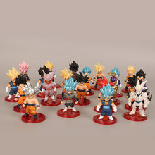 21 estilo Dragon Ball Z Super Saiyan Goku Gohan Vegeta Vegetto Syn Shenron Freeza Janemba Mini PVC Figuras Brinquedos(China)