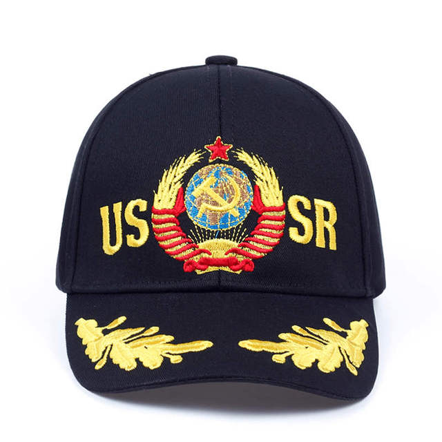 2019 CCCP USSR Russian Style Baseball Cap Unisex black Red cotton snapback Cap with 3D embroidery Best quality hats 1