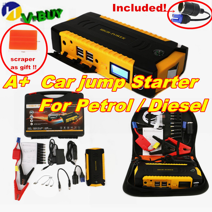 Super Power Car Jump Starter Power Bank 600A Portable Car Battery Booster Charger 12V Starting Device Petrol Diesel Car Starter(China)