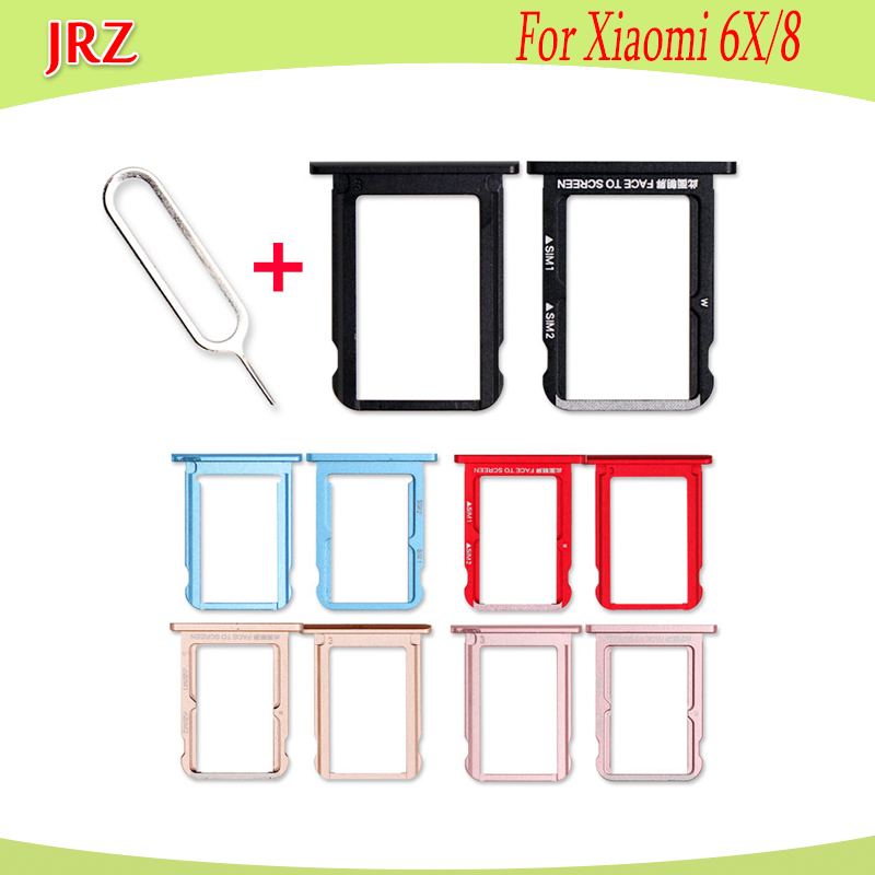 SIM Card Tray Slot Holder Adapter For Xiaomi 6x 8 Repair Accessories Micro SD Card Slot Holder Adapter+Take Sim Card Eject Tool
