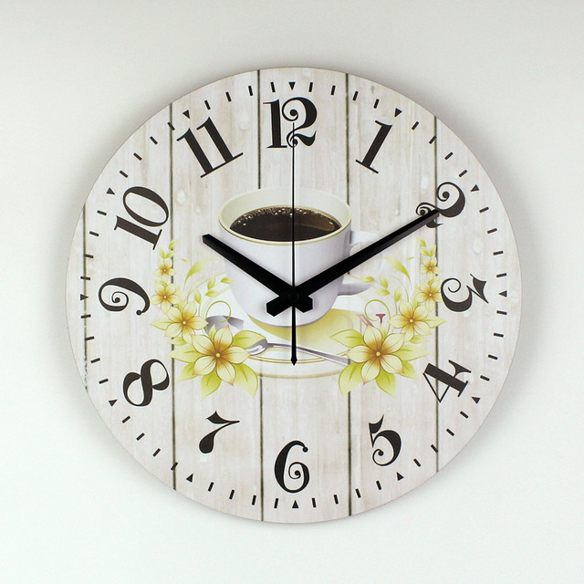 Modern Kitchen Wall Clock Creative Design Warranty 3 Years The Coffee  Decorative Wall Clock More Silent