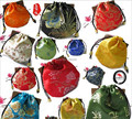 Wholesale 10x11mm Mix Color Drawstring Chinese Style Embroider Jewelry Gift Bags