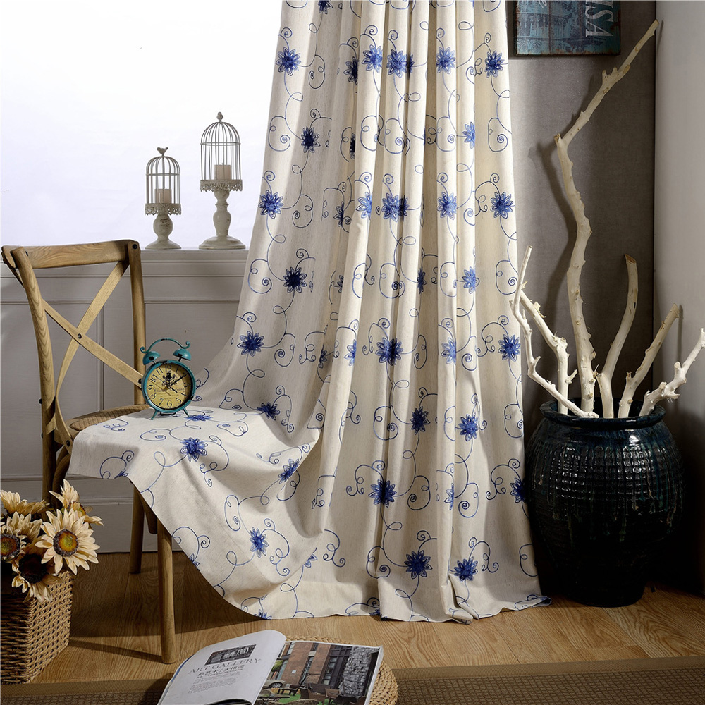 Online kopen wholesale blauw tule gordijnen uit china blauw tule ...
