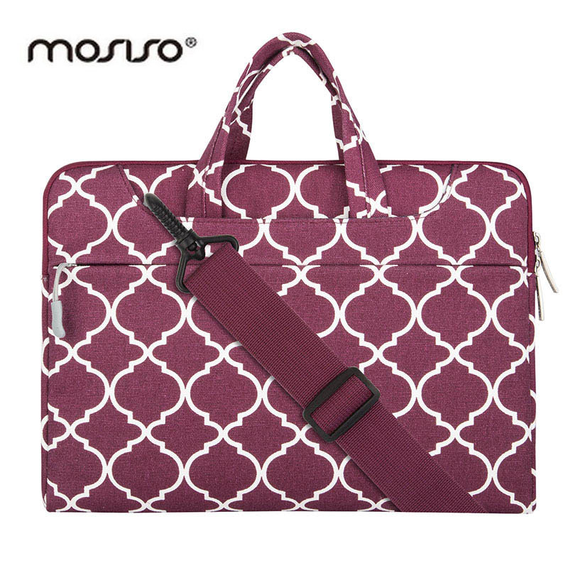 MOSISO 11 13 14 15inch Canvas Designer Laptop Shoulder Bag for Macbook Air Pro Asus Notebook Messenger Bags Briefcase Handbag