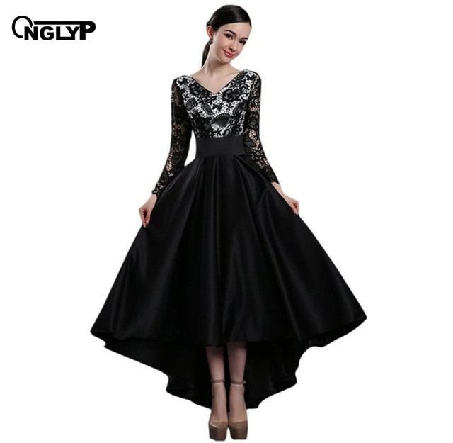 Aliexpress.com : Buy ONGLYP Grace Long Sleeves Lace Party Dresses ...