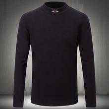 Top Designer Men T shirts 2019 New Autumn USA O neck Tshirt Bees Embroidery Logo Half Turtleneck Long Sleeve T Shirt 5XL 8310