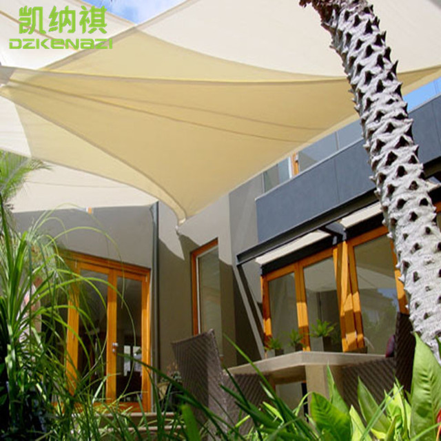 Merveilleux 5 X 5 X 5 M/PCS Triangular Waterproof Polyester Fabric Shade Sail Arc Edge