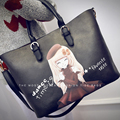 Lady Style Messenger Bags Princess Print PU Leather Composite Bag Women Handbag Womens Tote Crossbody Bags Free Shipping