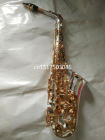 2017 High Quality SELMER Silver Saxophone Alto Sax Deep Carving Complete Accessories Free Shipping