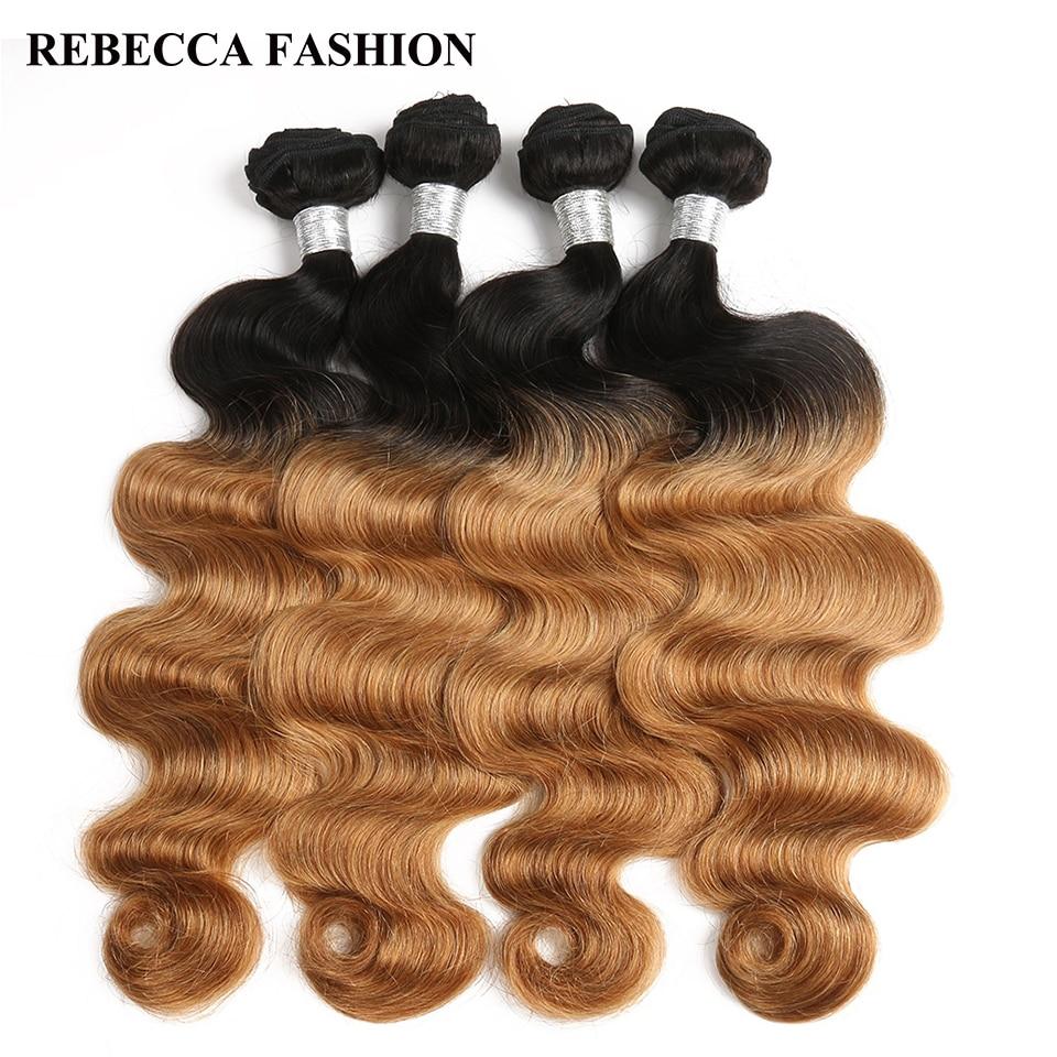 Superior Rebecca Remy Brazlilian Body Wave Human Hair Bundles 4pc