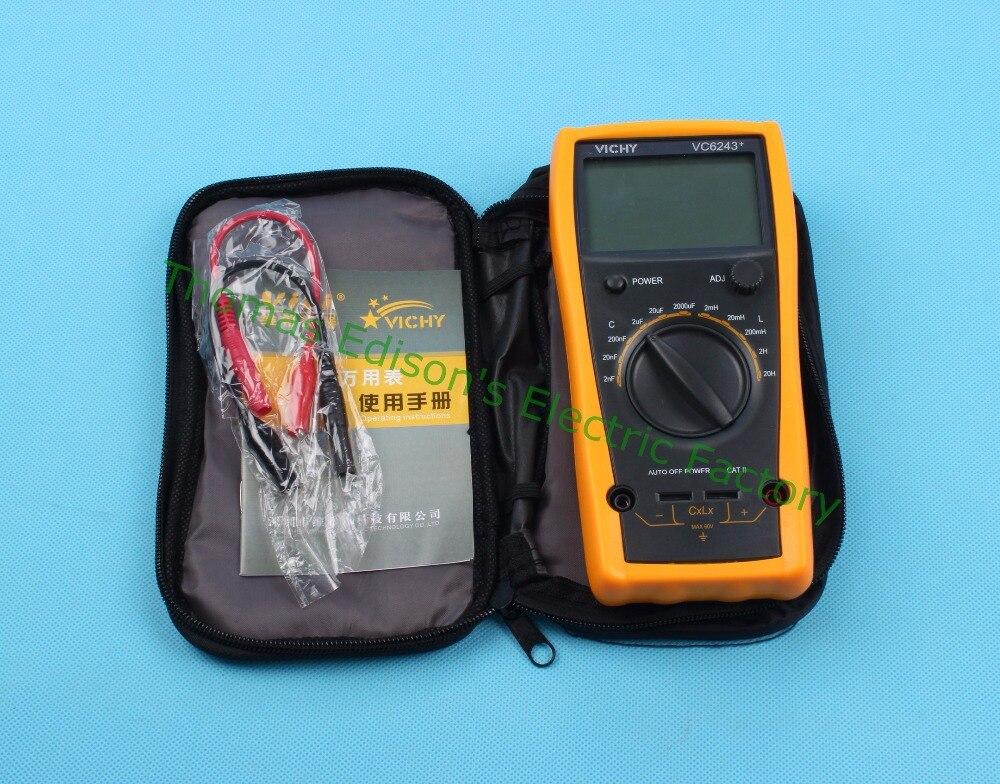VC6243+ high-precision digital inductance capacitance meter 0-2000uf   Inductance Digital Capacitance 20H  цены
