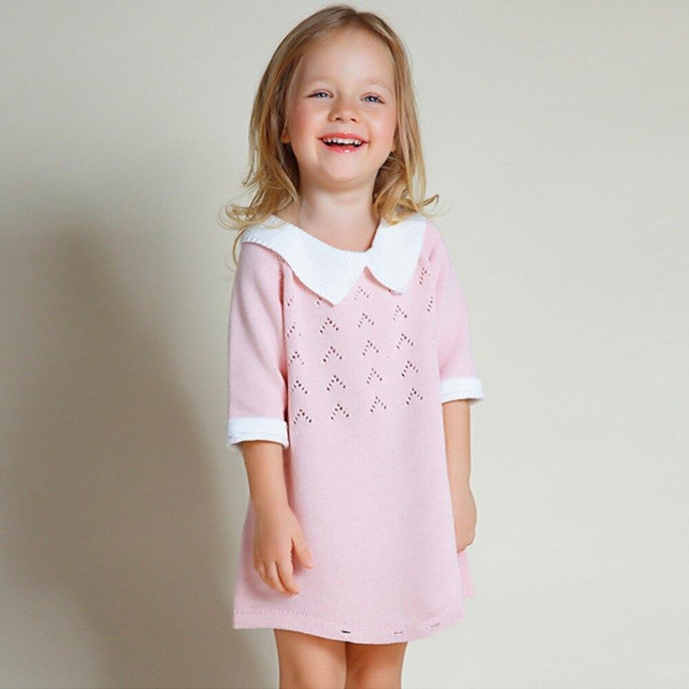 2018 Moda Maluch Dzieci Dziewczynka Sukienka Z Krótkim Rękawem - Odzież dla niemowląt - Zdjęcie 1