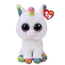 Ty Vaias Pixy The Unicorn Stuffed & Plush Animais Boneca de Brinquedo de pelúcia Com Tag 6 15 centímetros