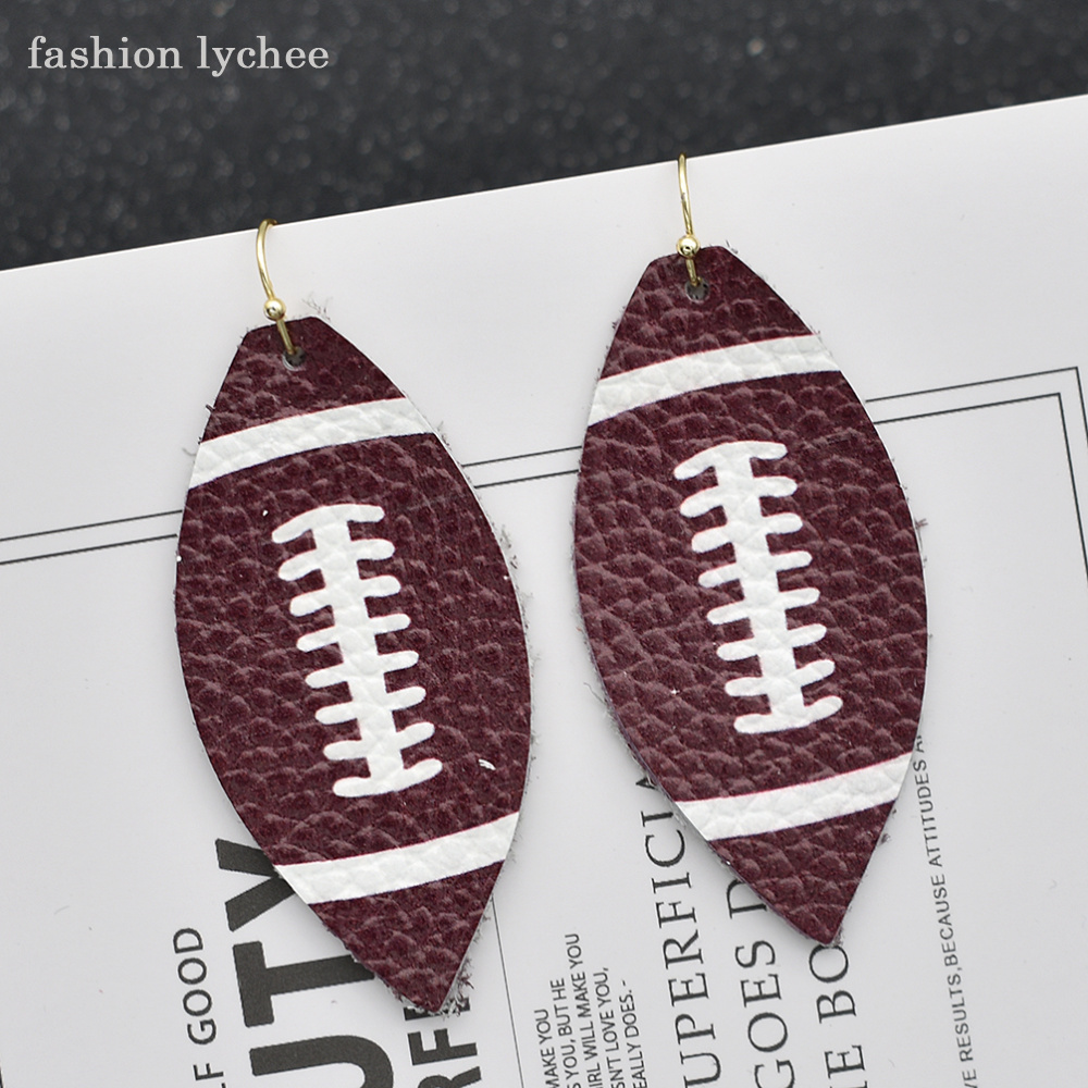 fashion lychee Artificial PU Leather Football Baseball