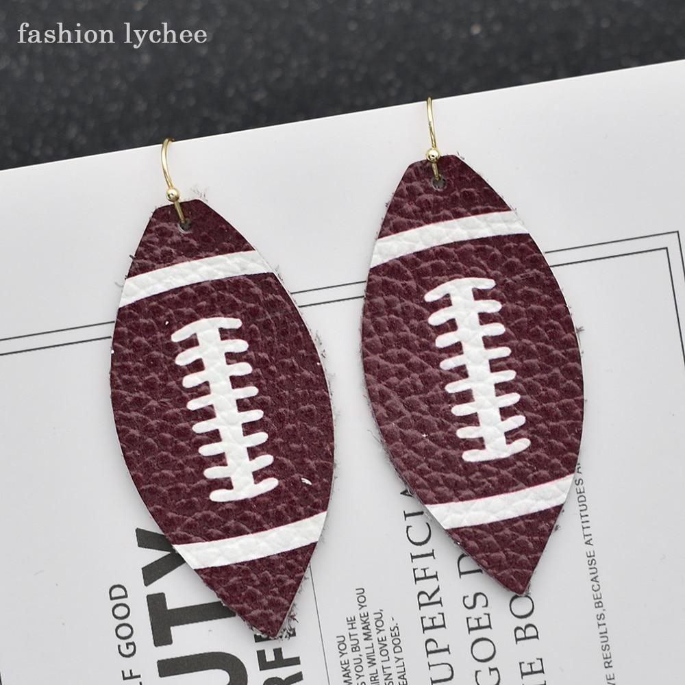 fashion lychee Artificial PU Leather Football Baseball ...