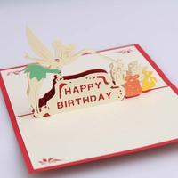 3D Pop UP Cards Brithday Day Gift Postcard with Envelope Stickers Card for Brithday Card for Festivals