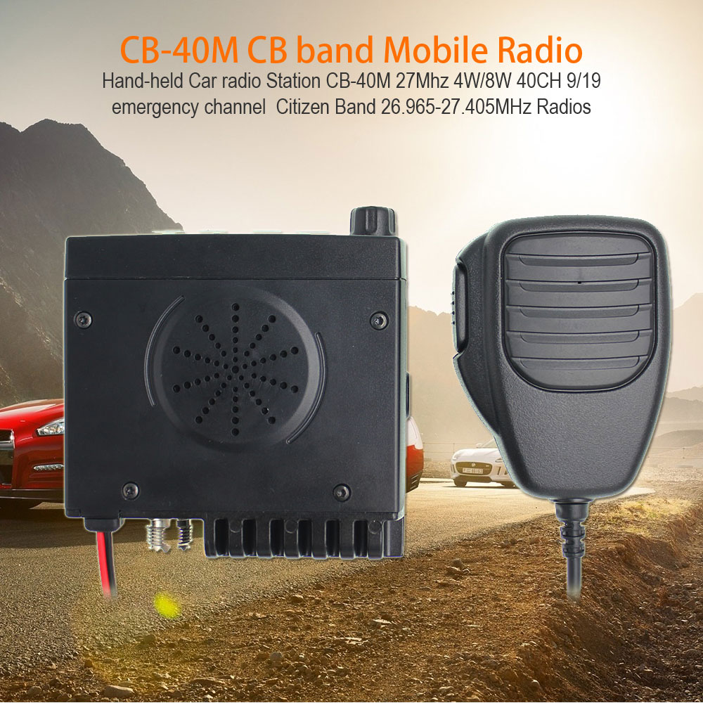 New ANYSECU AM/FM Mini CB Radio CB-40M 25.615-30.105MHz 8W Walkie Talkie 10M Amateur Car Citizen Band Radio