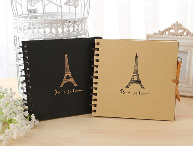 hot sale kraft and white paper photo albums scrapbook paper home