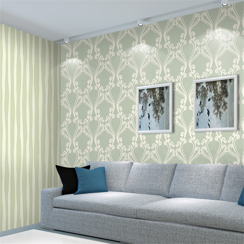 beibehang Simple European-style non-woven wallpaper color home furnishings living room bedroom background wallpaper living room tv background wallpaper modern black and white flowers 3d home furnishings pure color non woven wallpaper n4