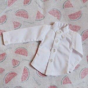 """Image 5 - BJD Puppe Weißes Hemd Outfits Top Kleidung Für Männliche 1/4 1/3 SD17 70 cm 17 """"24"""" Hoch BJD puppe MSD SD DK DZ AOD DD Puppe verwenden HEDUOEP"""