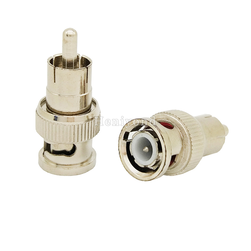 5pcs BNC Male To RCA Male Coax Cable Connector Adapter Female Plug Coupler For CCTV Camera