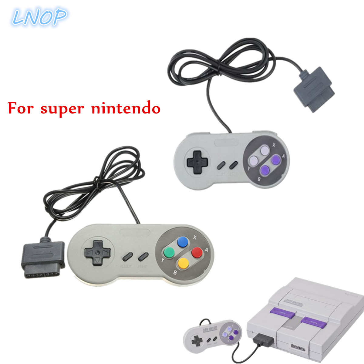 Wired gamdpad game controller joystick for super nintendo SFC/SNES console Classic portable video gaming gamepad