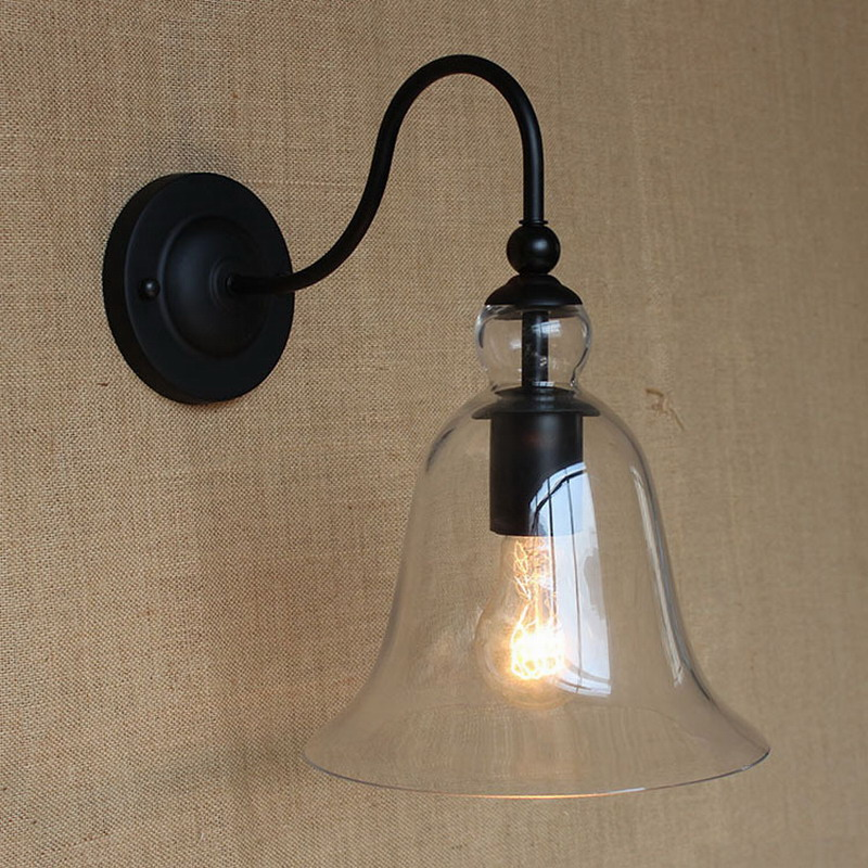 Vintage wall light lighting maching clear glass wall lamp for bedroom dinning living room aisle bed balcony cafe sconce fixture wall light 12w led wall lamp bedroom bedside living room hallway stairwell balcony aisle balcony lighting ac85 265v hz64