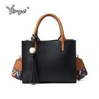 YBYT Brand 2018 New Fashion Joker Tassel Satchel Hotsale PU Leather Ladies Shopping Bag Women Shoulder
