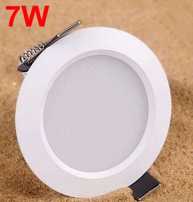 Recessed led Spotlight 7W AC85 265V Ceiling Lamp LED Spot light Aluminum Material Downlight LED for