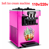110v/220V Soft Ice cream machine Commercial sweet cone ice cream machine XQ 18X three flavors Ice Cream Maker 18L 22L/H 1800W