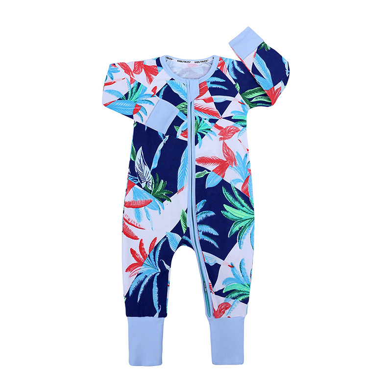 eb4919392c67 Newborn Baby Rompers baby Boys Clothes Jumpsuit Costume Baby Costume Island  style printing Rompers Spring Cotton