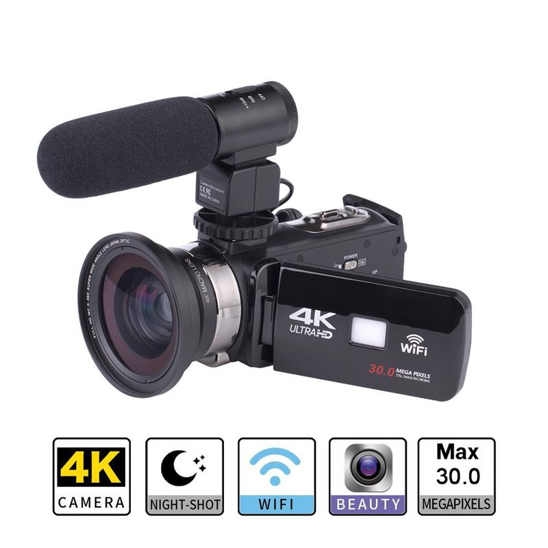 Pro Camera Video-Camcorder Remote-Control Waterproof Sports 4k Wifi Ultra-Hd Original title=
