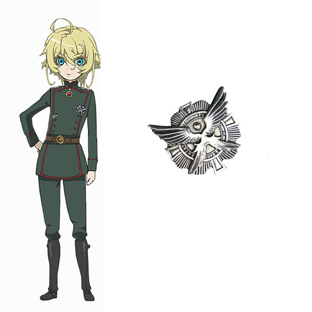 2019 Anime The Saga of Tanya the Evil Tanya von Degurechaff Badge Cosplay Pin