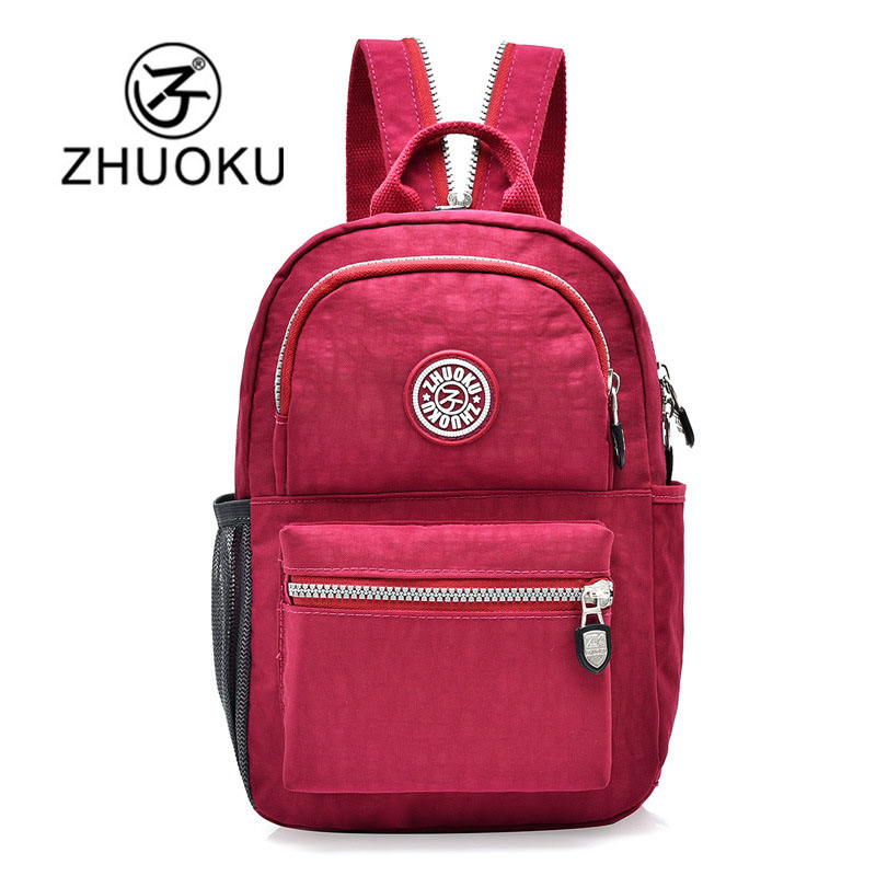 ZHUOKU Preppy Style Backpack Women Waterproof Nylon Bag Backpack Girl Schoolbag Backpacks Casual Laptop Backpack Mochilas
