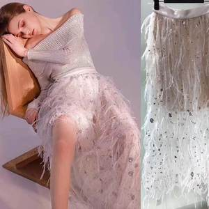 Sexy Skirts Tulle Feather-Design White Summer Harajuku Elegant Fashion New Vadim Wild