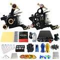 Solong Tattoo 2 Artesanal Máquina GunsTattoo Kits Poder Pé Abastecimento Pedal 20 Copo Conjunto TK201-12 Taty Agulhas Punho Dica Ink