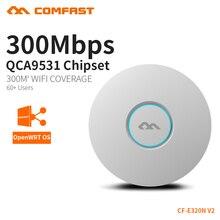 COMFAST беспроводной AP 300 потолочный wifi-маршрутизатор AP 802.11b/g/n Wi-Fi маршрутизатор Крытый AP для большой зоны Wi-Fi покрытие точка доступа AP CF-E320N-V2